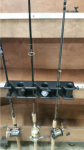 Rod Holder Triple with Bait